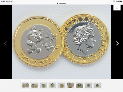 £2 Tosha CAT 2 pound coin ISLE OF MAN COMMONWEALTH YOUTH GAMES 2011 Filler 2/ 8