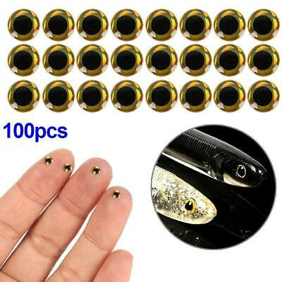 100pcs Lure Fish Eyes 3D Holographic Fly Tying Jigs Crafts Dolls Realistic Toy