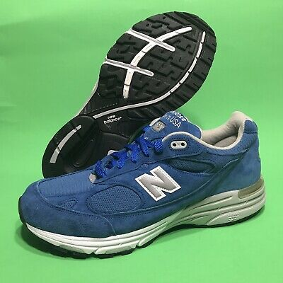 promo code 91248 08dab New Balance 993 Running Shoes Made In USA Blue Suede US993BL Mens Size 10 2E