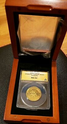 RARE 2011 Casascius Physical 1BTC Coin Ver 2 Graded ANACS MS64 Mint Bitcoin #2
