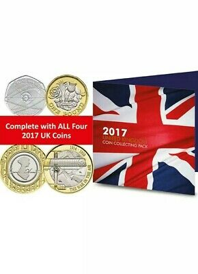 2017 Commemorative Coin Pack - Isaac Newton, Jane Austen, WW1 Aviation, Nations