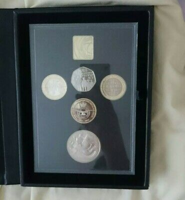 2018 UK ROYAL MINT 5 COIN PROOF COIN SET COMMEMORATIVE EDITION - complete