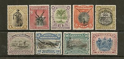 NORTH BORNEO 1884 PICTORIAL SET OF (9) TO 24c SG66/79 MINT