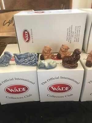 10 BOXED WADE WHIMSIES, Pike Limited Edition  3 kitten Crocodile and more, Qq