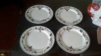 SET OF FOUR Villeroy & Boch 'Palermo'  SIDE / TEA PLATES-GOOD USED QUALITY
