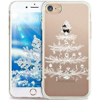 iPhone 8 Plus Hulle,iPhone 7 Hulle,ikasus(r) TPU Weisser Weihnachtsbaum
