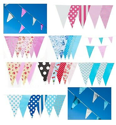 Gender Reveal Bunting Baby Shower Party 20 Flags 10m Home Boy Girl Blue Pink