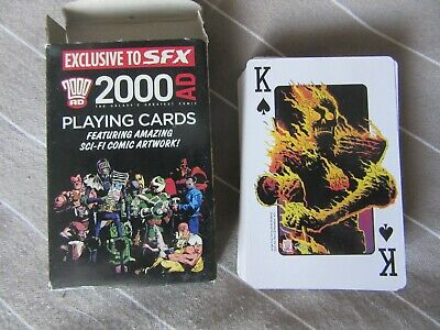 2000AD Playing Cards, Judge Dredd, SFX Promotional, RARE, Rogue Trooper, Tharg