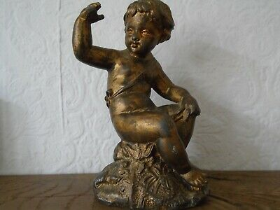 Antique cherub clock parts garniture putti vintage