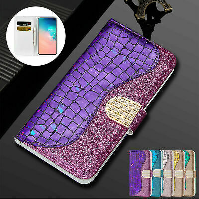 Bling Glitter Magnetic Flip Wallet Leather Case Cover For iPhone X 7 8 Plus Xr