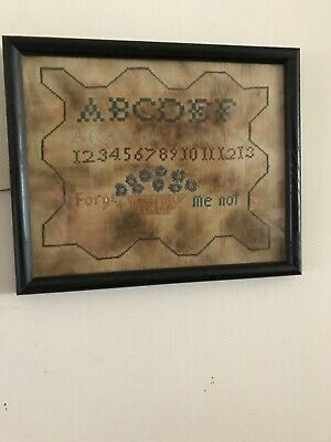 Primitive Colonial  Counted Cross Stitch ABC Sampler