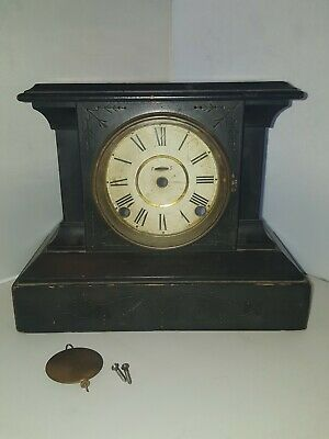 "Antique E. Ingraham ""Reverie"" Cathedral Gong Mantle Clock as is"