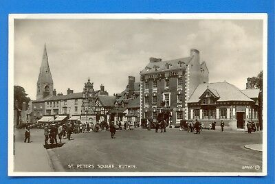 St.peters Square,Ruthin.real Photographic Postcard