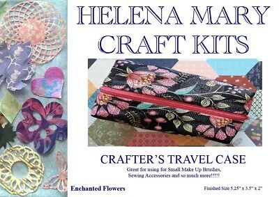 Helena Mary Crafters Travel Case Kit Complete Kit - Enchanted Flowers Case