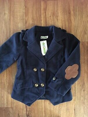 BNWT Girls Navy Jacket with Faux Leather Elbow Patches Size 5