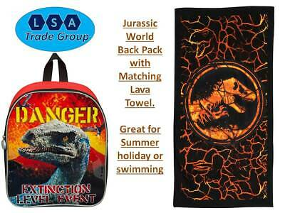 Hat /& Towel Dinosaur Jurassic World Park Kids Holiday Summer Bundle Backpack