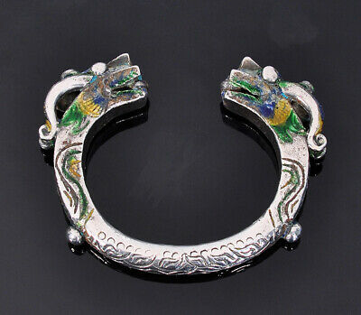 Silver Dragon Bracelet, Tribal Art, Golden Triangle, Thailand, Laos, Burma