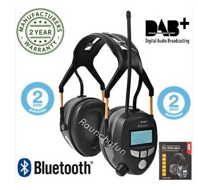 FM/DAB+ Radio Ear defenders Ear Protectors with Bluetooth, Brand New