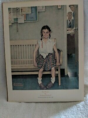 "Norman Rockwell ""The Winner""1973 Poster/ Lithograph Saturday Evening Post 1953"