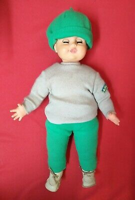 Puppe Doll Puppe Angelino Sebino Vintage Made in Italy 60 CM