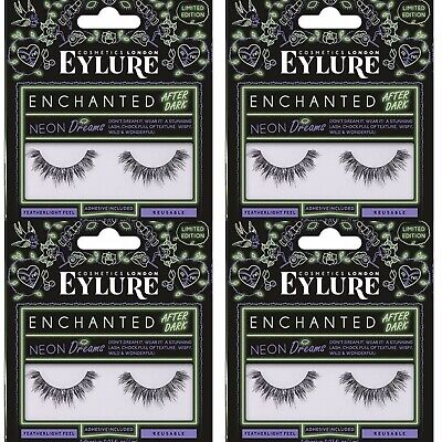 384fd933d62 4 x Eylure Enchanted After Dark False Eyelashes Neon Dreams Adhesive  Included