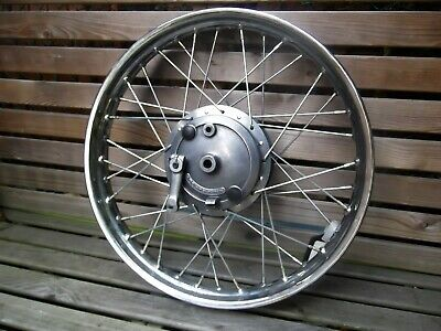 1976 Harley Davidson SS250 Motorcycle front spoked wheel