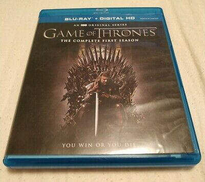 Game of Thrones: The Complete First Season (Blu-ray Disc, 2016, 5-Disc Set) Mint