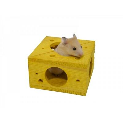 Rosewood Boredom Breakers Hamster Mouse Gerbil Toy - Wooden Sleep N Play Cheese