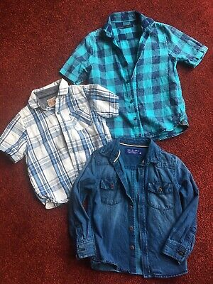 3 Boys Shirts From Next Age 4-5. Great Condition.