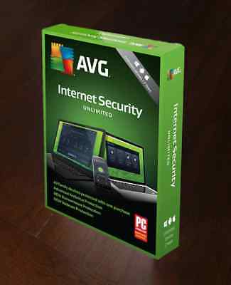 Avg Internet Security 2019 (2018) 2 Years Unlimited Users  Worldwide