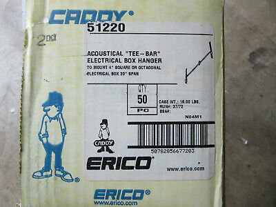 """(50) Erico Caddy 51220 Acoustical Tee-Bar 20"""" Span NEW!!! in Box Free shipping"""