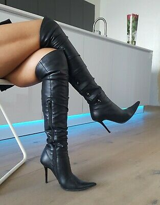 By Biondini Stiefel High Bond Leder Stiletto Overknee Heel VqMpSUz