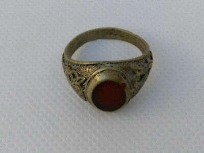 Extremely Rare Ancient Roman Ring Metal Color Silver Artifact Authentic