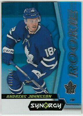 2018-19 Upper Deck Synergy Rookies Tier 1 Blue ANDREAS JOHNSSON 63 277/799 UD RC