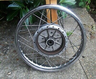 Yamaha RD350 Motorcycle spoked rear wheel