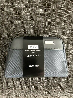 TUMI for Delta Small Zip Top Pouch Soft Sided Travel Toiletry Case