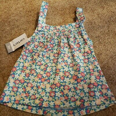 CARTERS -infant girls - Floral-pink-white-blue romper - NWT - 3 mths