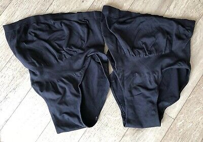 Two Pairs Of Emma Jane Seamfree Over Bump Maternity Support Briefs Size 10-12