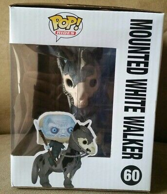 New Sealed Funko Pop! Rides 60 Game of Thrones Mounted White Walker Vinyl Figure