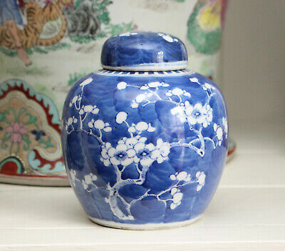 A Pretty Chinese Blue and White Ginger Jar