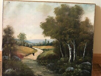"""Chatel? 19 th-Early 20th Century Landscape Oil Painting 18"""" By 22"""""""