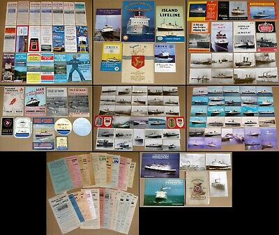 ISLE OF MAN STEAM PACKET collection – Books, Timetables, Flyers, Postcards…