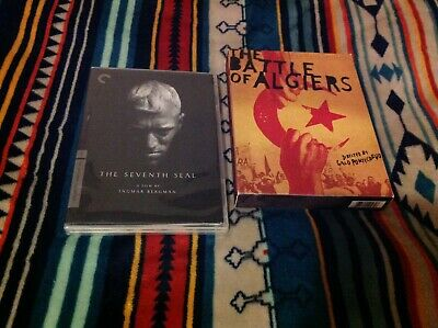 Criterion Collection DVD Lot The Seventh Seal / The Battle Of Algiers