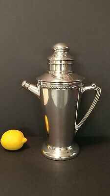 Forbes Silver Co Cocktail Shaker Art Deco Silver Plate Recipes