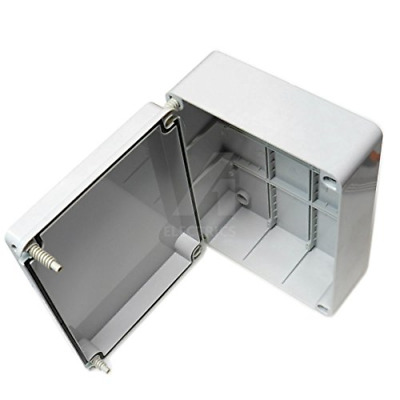 Junction box 300 x 220 x 120mm weatherproof adaptable enclosure IP56 PVC outdoor
