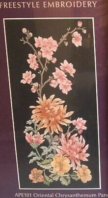 Coats UK Anchor Premier Collection Embroidery Kit ORIENTAL CHRYSANTHEMUM PANEL