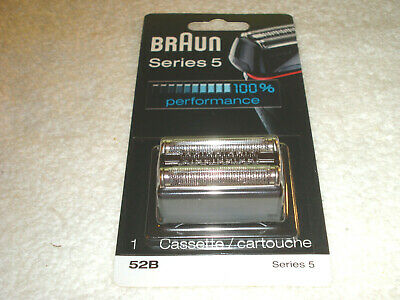 Braun 52B Series 5 Replacement Shaver Foil Cutter Head Cassette Silver