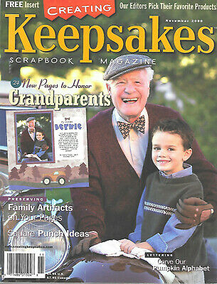 Creating Keepsakes Scrapbook Magazine November 2000 Grandparents Pages Artifacts