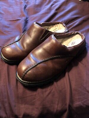59b9cc23acc UGG MENS 15 Clogs Mules Slip On Casual Shoes Brown Leather 5526 ...