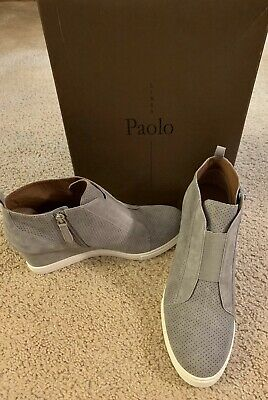 645256bc6c25d New Linea Paolo Womens SZ 9 Felicia Platform Wedge Bootie Sneaker Suede Gray